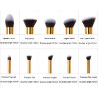 KABUKI T057 - 10PCS Black & Gold kit