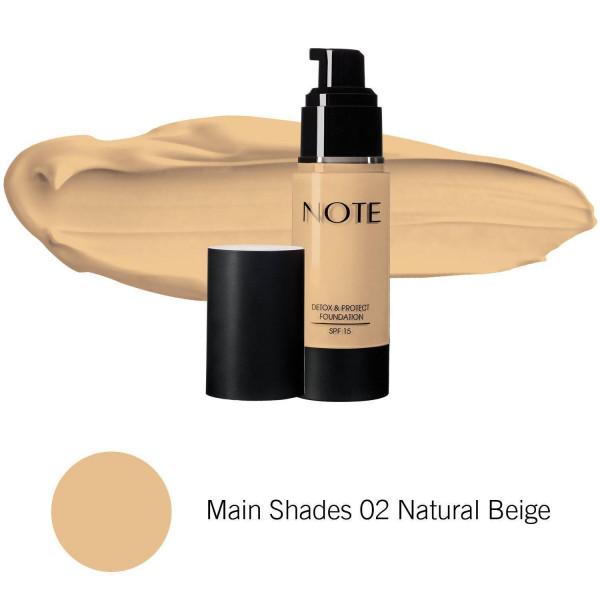 Foundation Detox Protect 02 Natural Beige