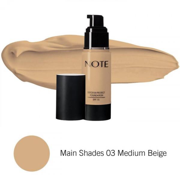Foundation Detox Protect 03 Medium Beige